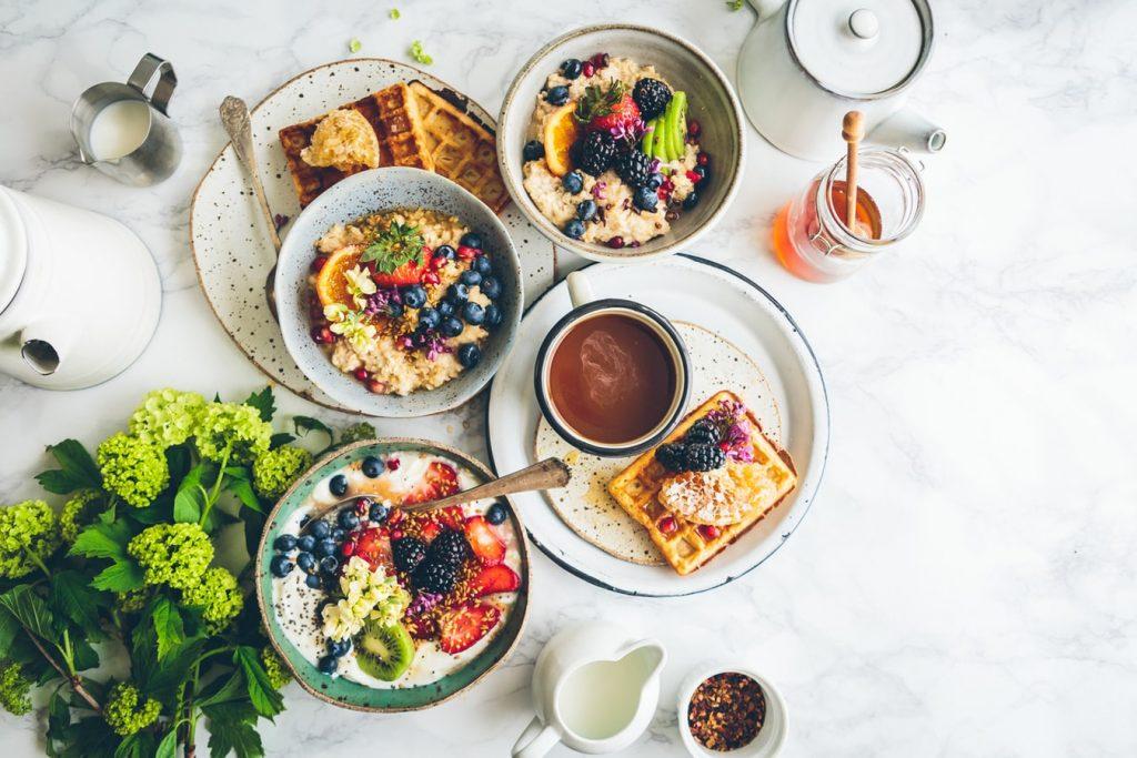 gezond eten op tafel - Food Drink Experience